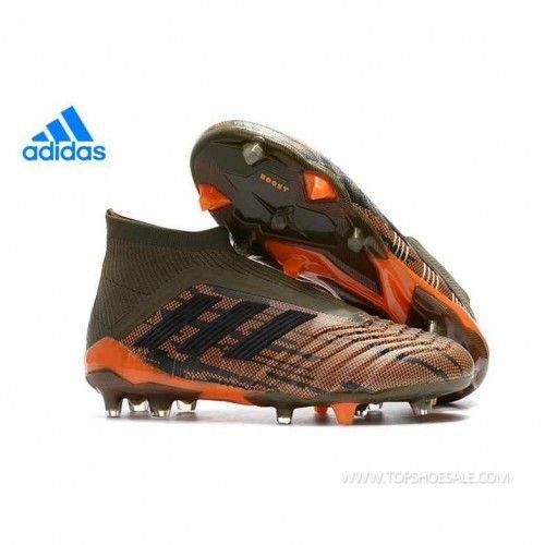 Regular product Adidas PREDATOR 18+ FG CM7395 Trace Olive Core Black Bright  Orange Soccer Shoes e915f258fb