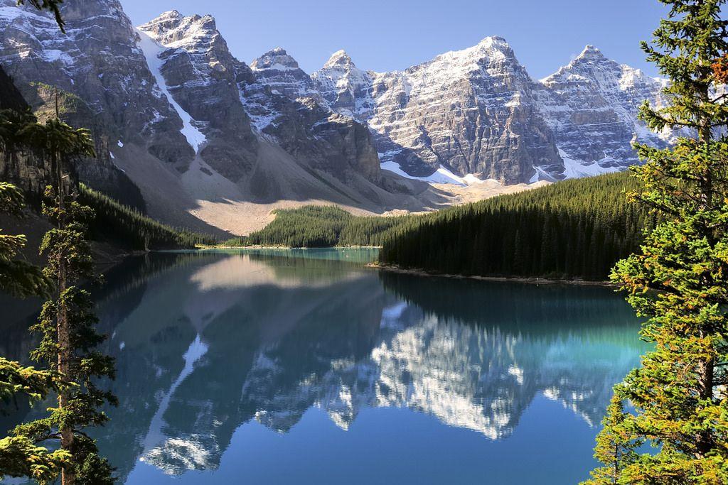 Rocky Mountains Landscape Moraine Lake Banff National Park Alberta Rocky Mountains Lake Landscape Landscape