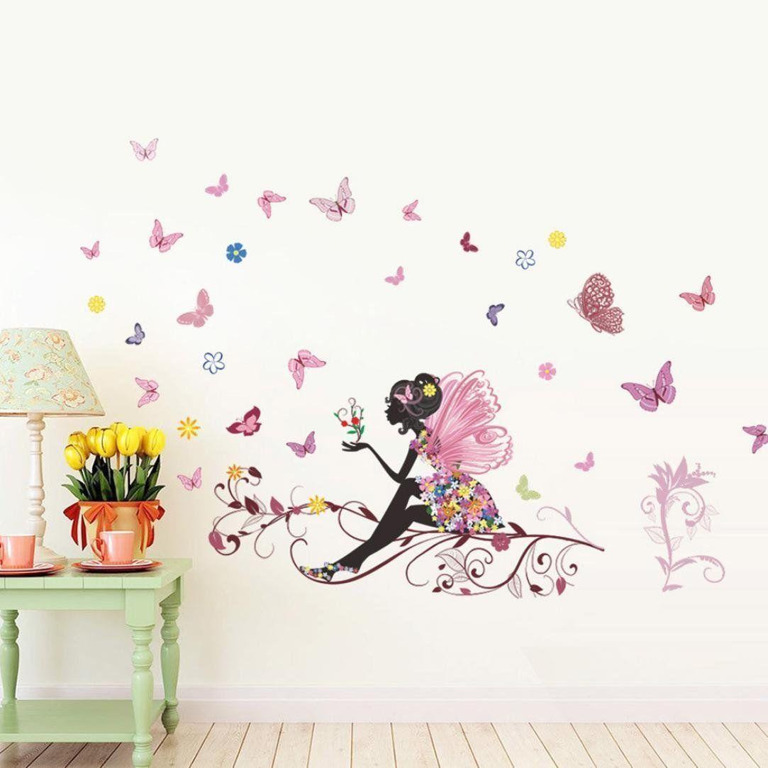 Schmetterlings Fee Aufkleber für die Kinderzimmer Wand. Tolle ...