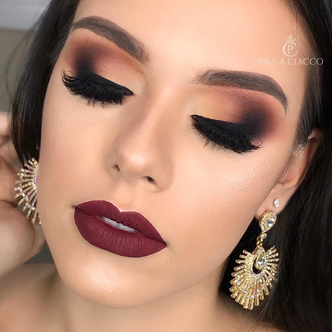 14 Absolutely Gorgeous Makeup Ideas Smokey Glam Makeup Makeup Eyemakeup Eyeshadow Glam Makeup Look Glam Makeup Skin Color Makeup