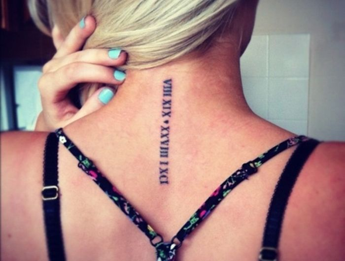 tatouage chiffre romain des chiffres et des lettres tatoo pinterest tatouage tatouage. Black Bedroom Furniture Sets. Home Design Ideas