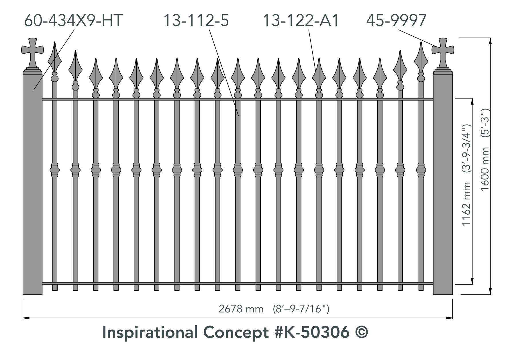 Adding Fence Toppers Gives A Fence Character And Adds Overall Beauty See What You Can Come Up With At Kingmetals Com Concept Design Design Concept