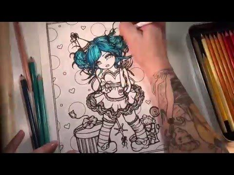 Birthday Girl From Hannah Lynns Mermaids Fairies Coloring Book