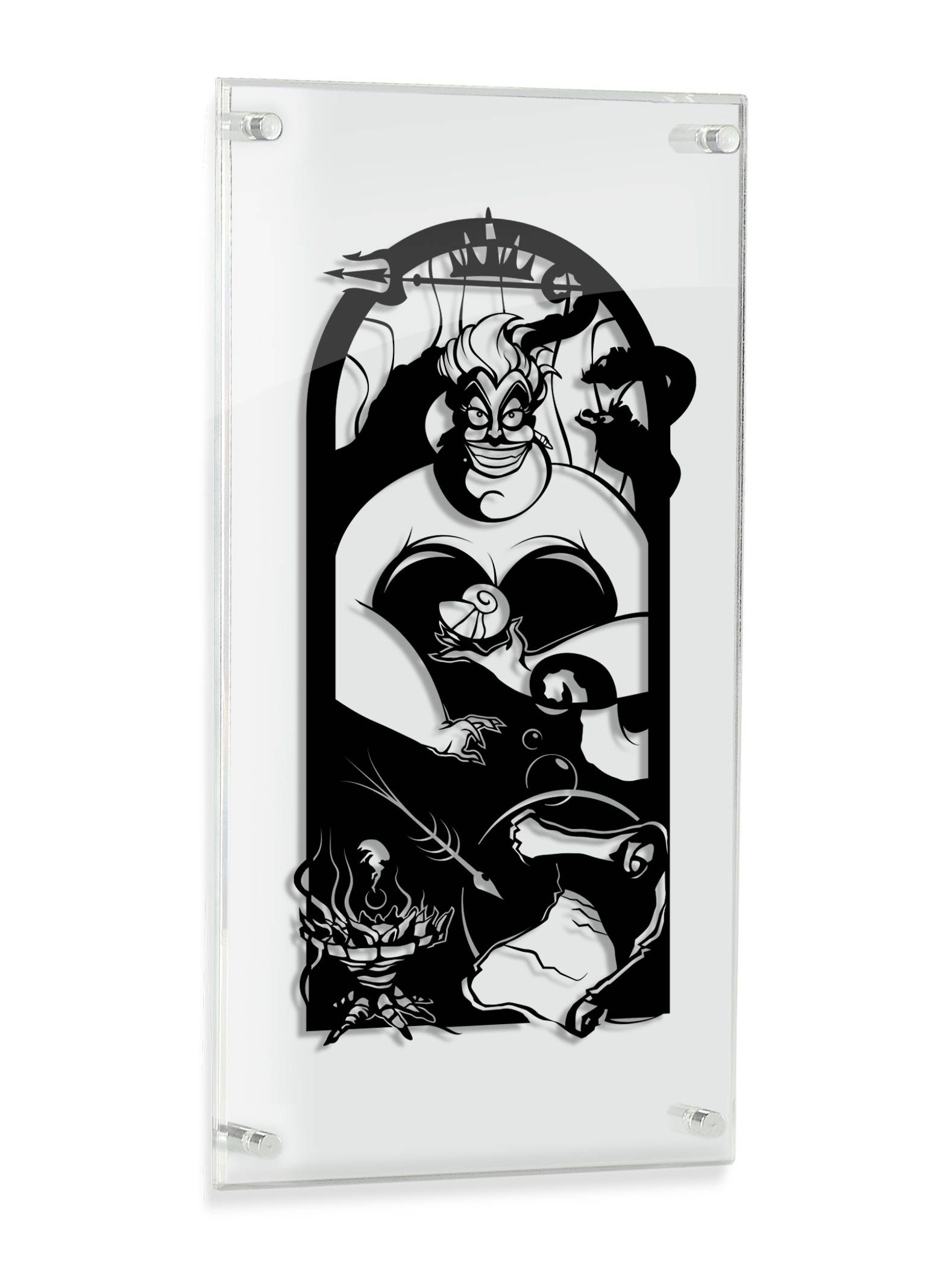 Ursula mer sorcière petite sirène silhouette coupé à la main