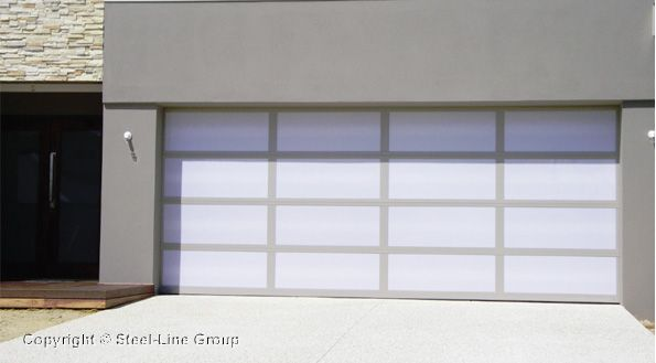 Inspirations Garage Door Aluminium Frame With Opal Acrylic Inserts