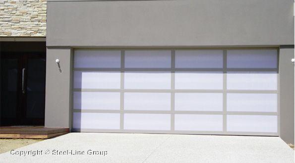 Inspirations Garage Door Aluminium Frame With Opal Acrylic Inserts