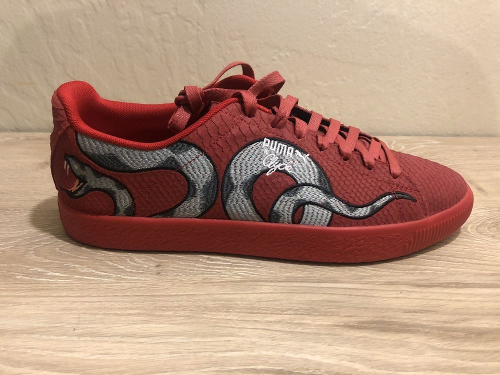 fb2c283d5f8e PUMA - CLYDE   SNAKE EMBROIDERY - 368111 02 - Men s Shoes - RED - Size 11   fashion  clothing  shoes  accessories  mensshoes  athleticshoes (ebay link)