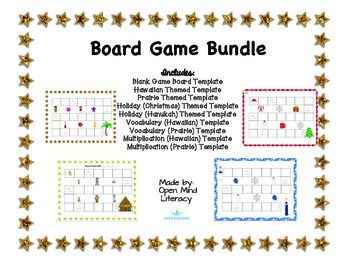 Learning Board Game Bundle Math Ela  Holiday Templates