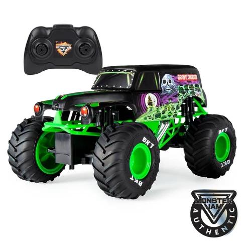 Monster Jam Official Grave Digger Remote Control Truck 1 15 Scale 2 4ghz Remote Control Trucks Monster Jam Monster Trucks
