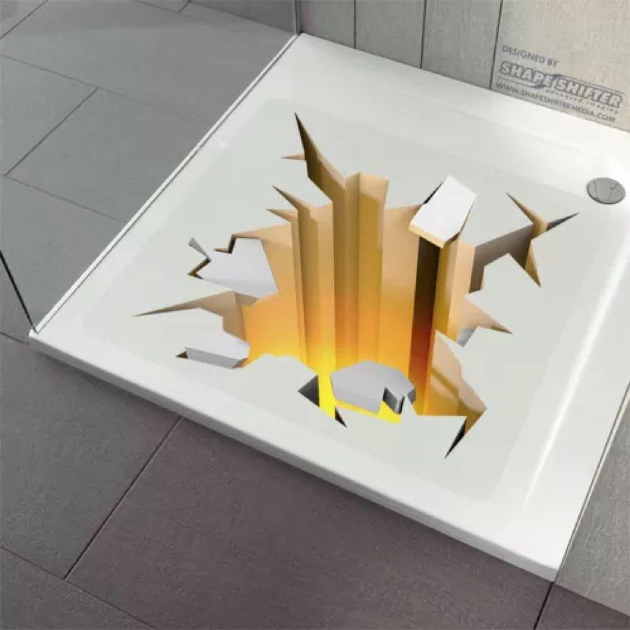 Anti Rutsch Dusche Badewanne Dusch Einlage Matte Aufkleber 3d Loch Gluhend Novelty Ebay Molding