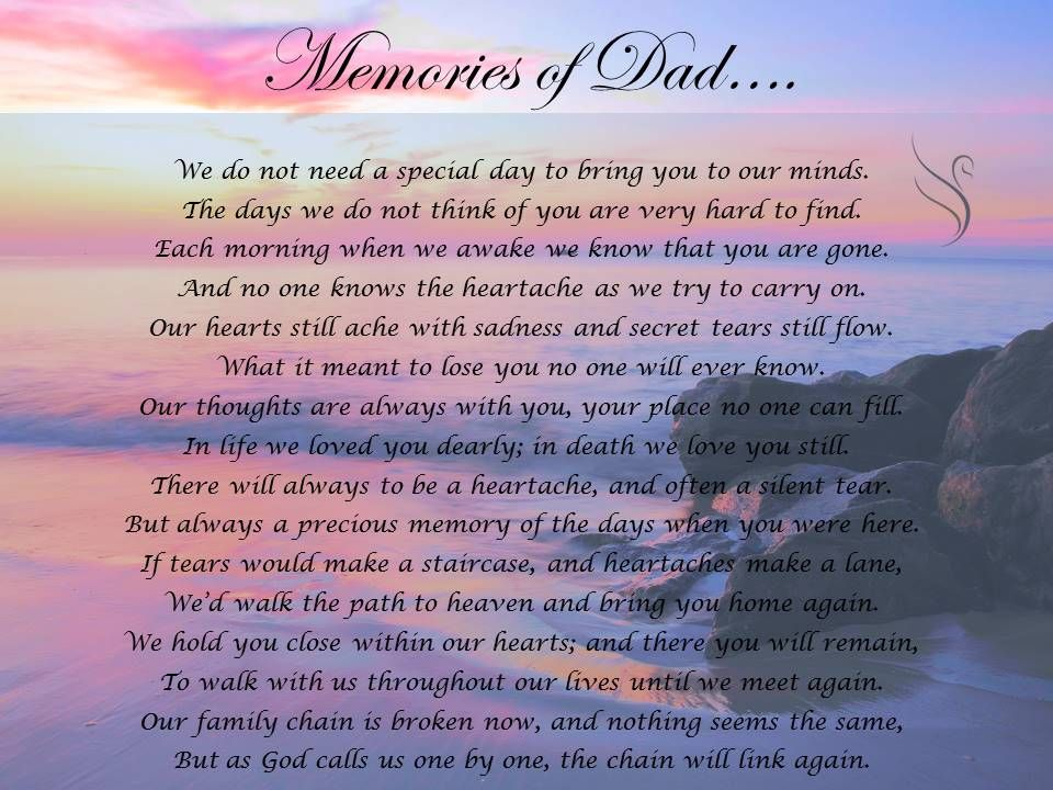 Memorial Poems For Dads 2