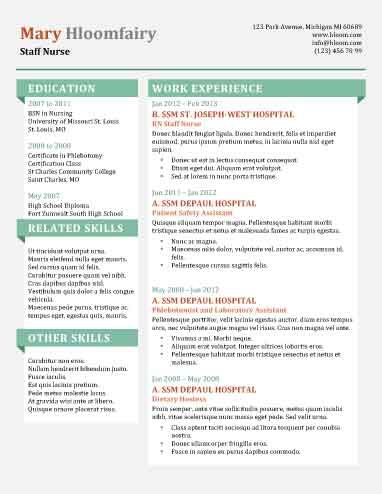 info pop free resume template by hloomcom - Nice Resume Template
