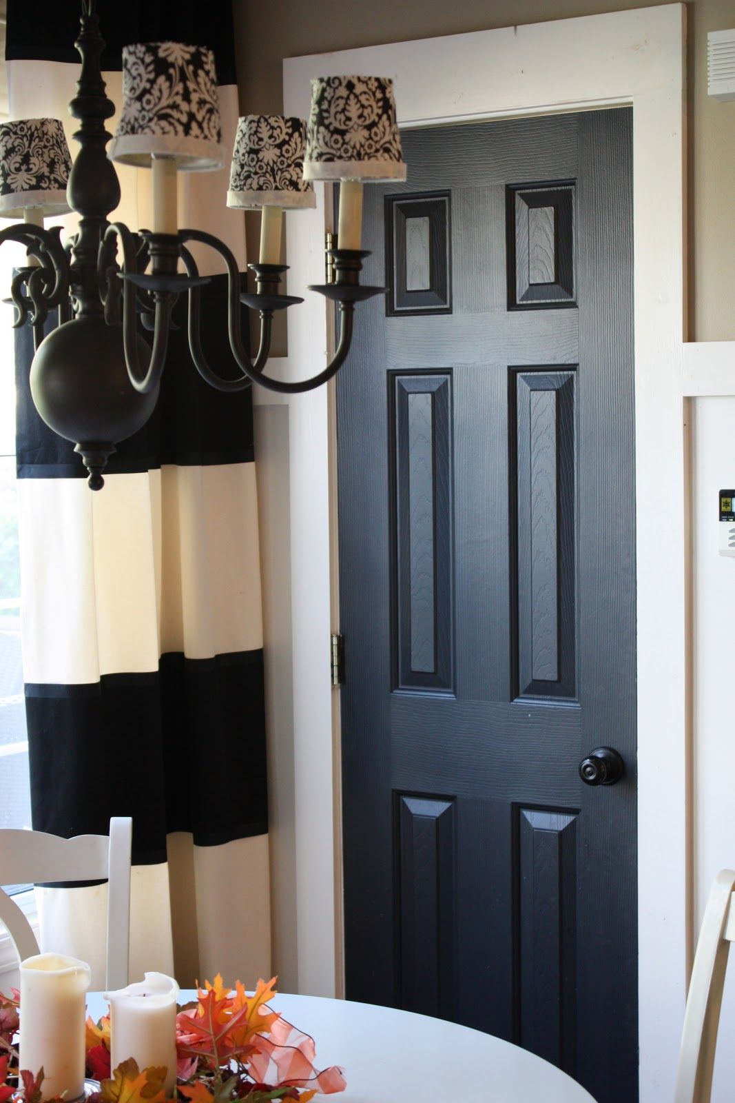 Black doors with white trim - The Yellow Cape Cod 31 Days Of Character Building Simple Builder Door Upgrades