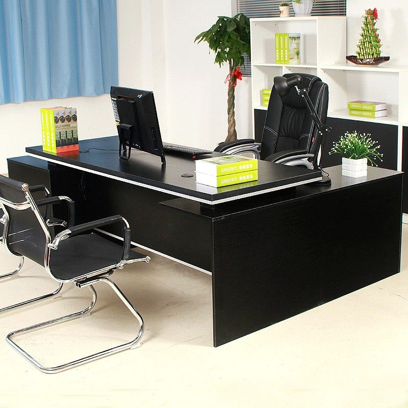 Factory Wholesale Price Modern Tall Office Desk Tables MDF Wood Classic  Executive Office Desk