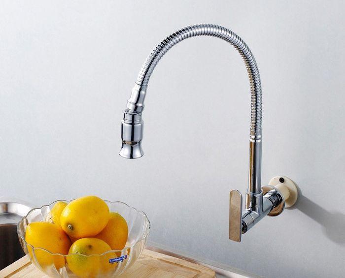 torneira cozinha Wall Mounted Kitchen Faucet Brass Single ...