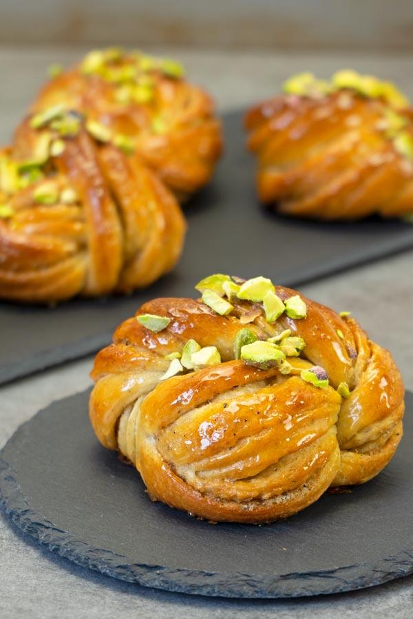 Swedish Cardamom Pistachio Buns - El Mundo Eats
