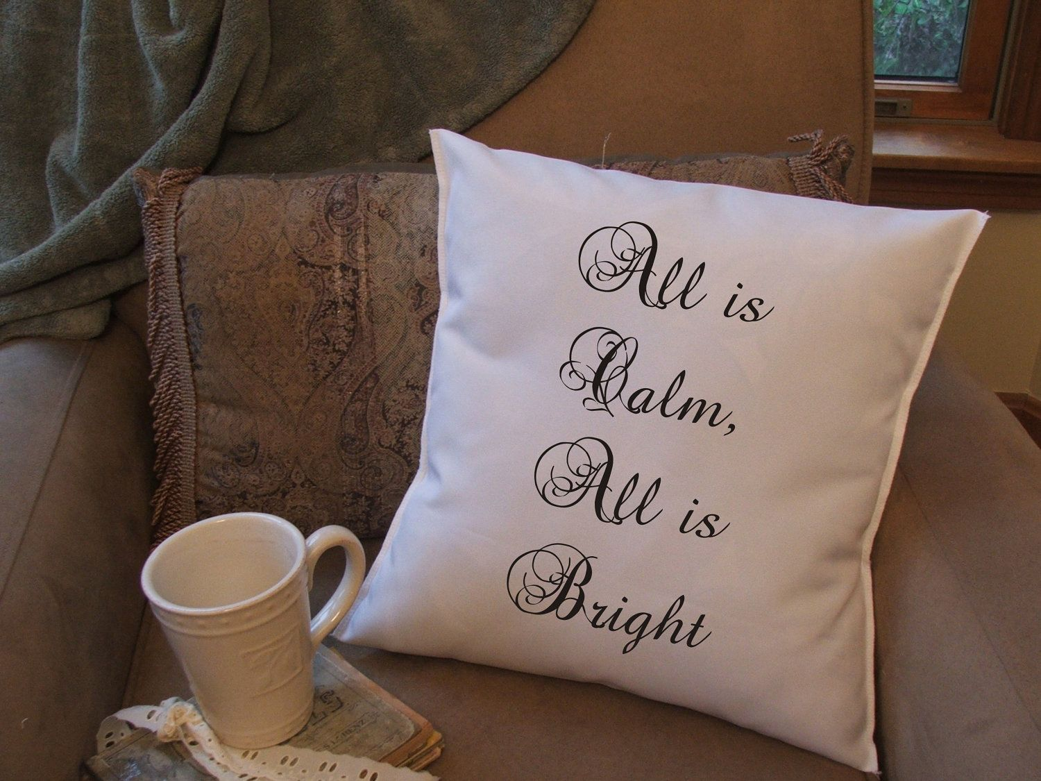 Christmas throw pillow cover custom throw pillow by TwirlyGirlTees, $14.99