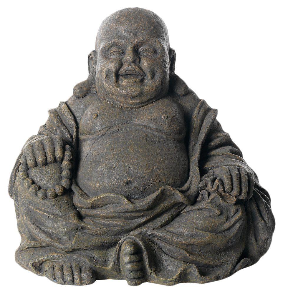 lachend boeddha beeld brengt sfeer op je terras