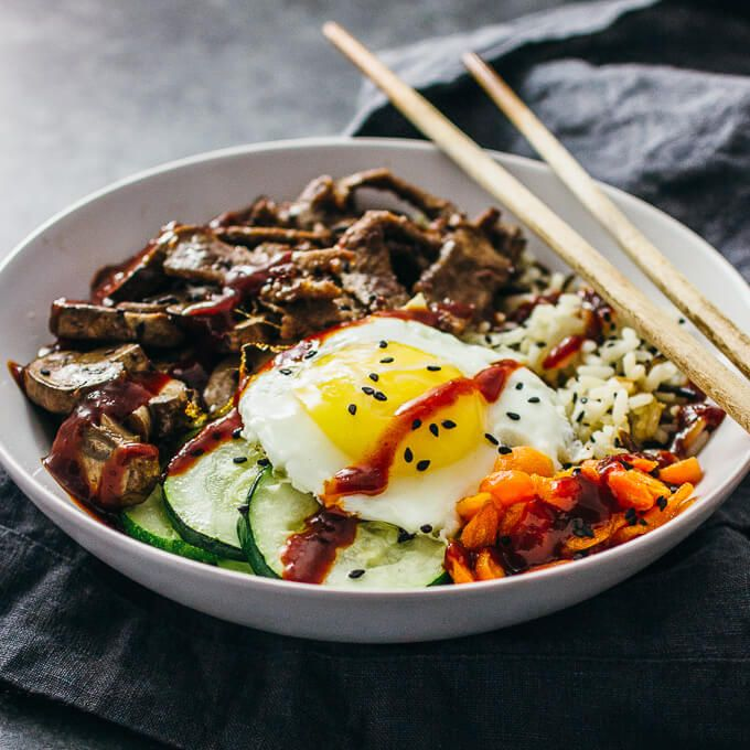 Youll love this easy recipe for homemade bibimbap this tasty youll love this easy recipe for homemade bibimbap this tasty korean beef bowl forumfinder Images