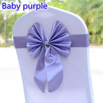 Baby Purple Colour Chair Sash Butterfly Style Bow Tie