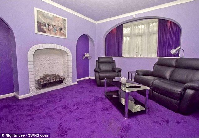 Matching Everything From The Carpet Walls And Window Curtains Are A Shade Of Lilac