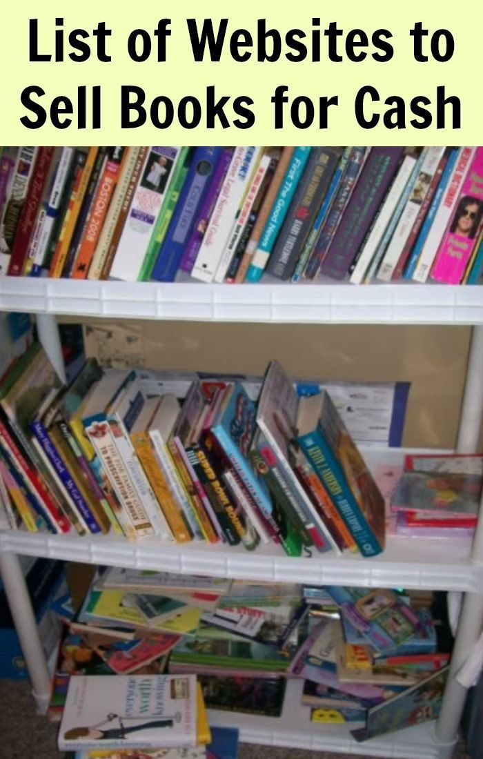 List of Websites to Sell Books for Cash - Send in book(s ...