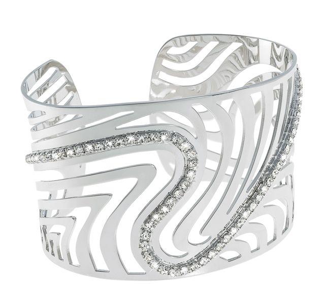 Stroili Oro Kalahari collection bracelet #silver #fashionjewelry #cuffbracelet