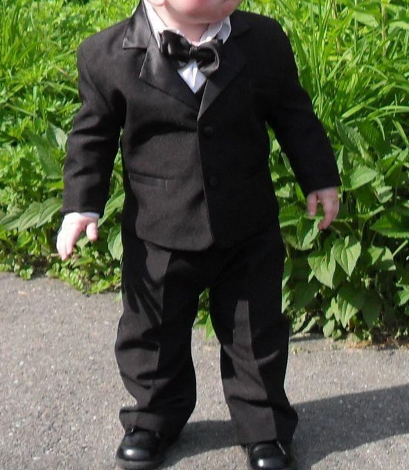 Baby Ring Bearer Tuxedo Size Med 12-18 months $25 : wedding baby ...