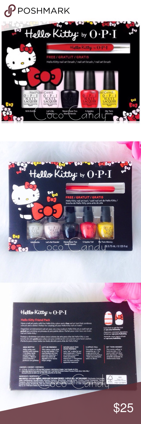 Flash Saleopi Nail Polish Set Opi New Kitty Brush 5 In 1 Have A Art Party With The Hello Mini Lacquers Collection M