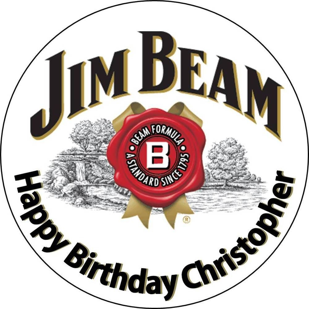 Jim Beam Cake Topper