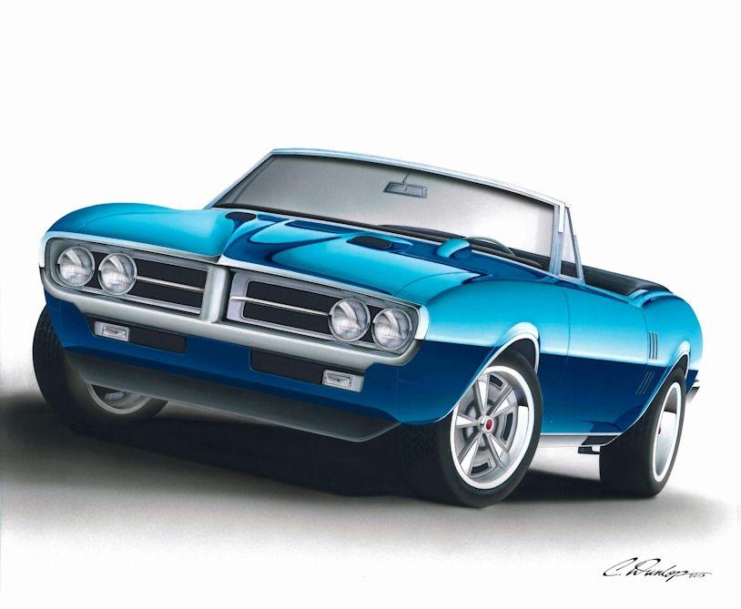 Sharpie Art By Pinstripe Chris Rendering Car Pontiac Firebird Car Cartoon