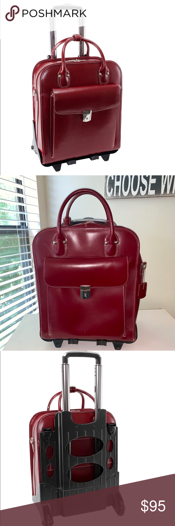 """McKlein Leather 15"""" Leather Detachable Briefcase 