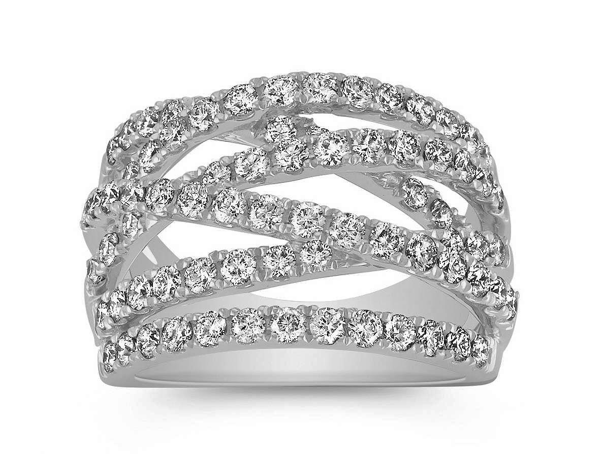 CrissCross Diamond Wedding Ring 1.5 TCW Rings, Diamond