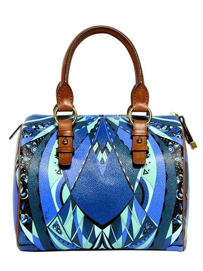 EMILIO PUCCI - SMALL BOSTON CHICAGO PRINT PVC BAG - LUISAVIAROMA