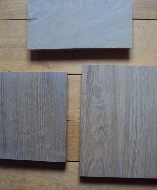 Grey Kitchen Cabinets With Grey Wood Flooring | ... Grey Stained Oak Wood  Which