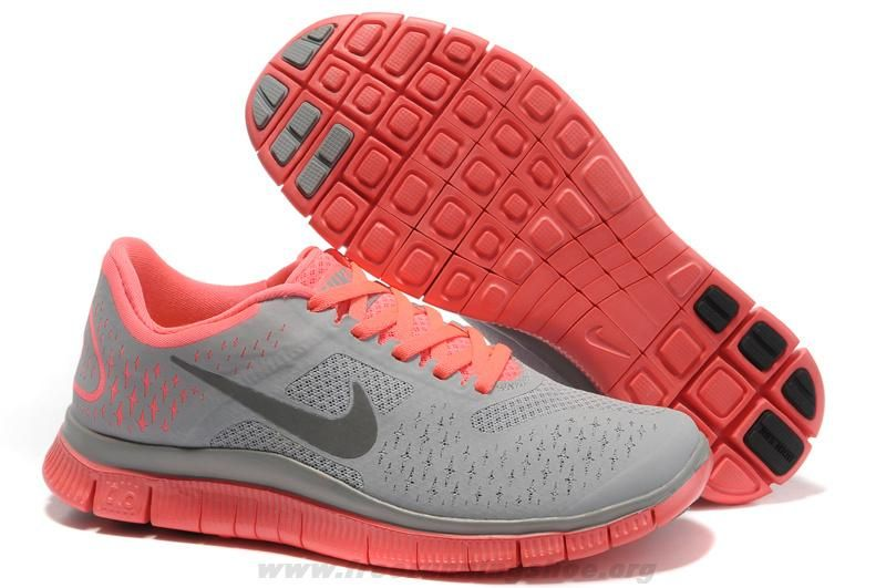 eb641c0ee5d1 Cheap 511527-600 Nike Free 4.0 V2 Womens Grey Black Pink For Who ...