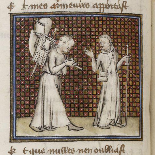 Guillaume De Digulleville Pelerinage De Vie Humaine Pelerinage De L Ame Art Medieval Illustrations Vie Humaine