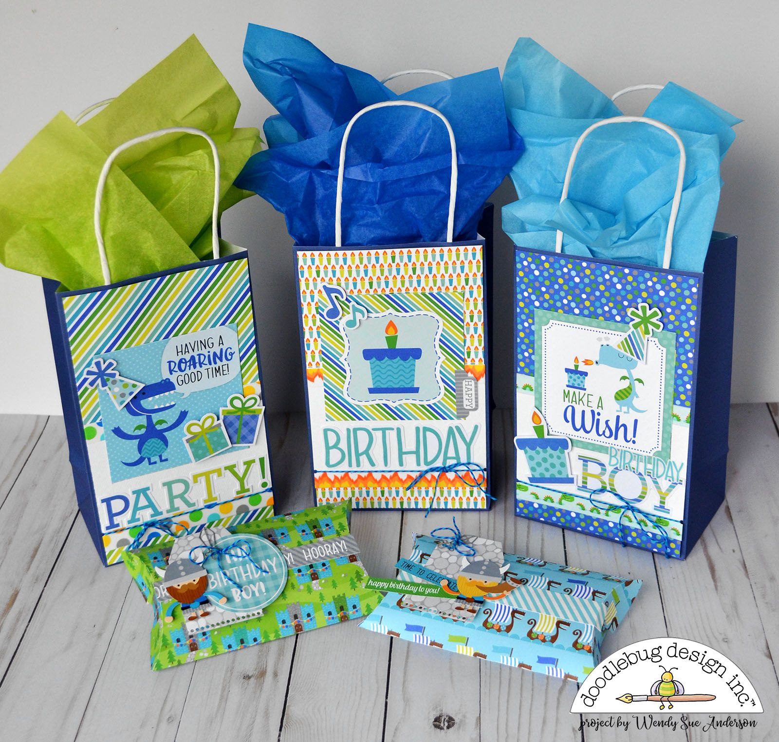 Its Wendy Sue Here Today Sharing Some Fun Birthday Gift Bags And Boxes I Created With The New Dragon Tails Co