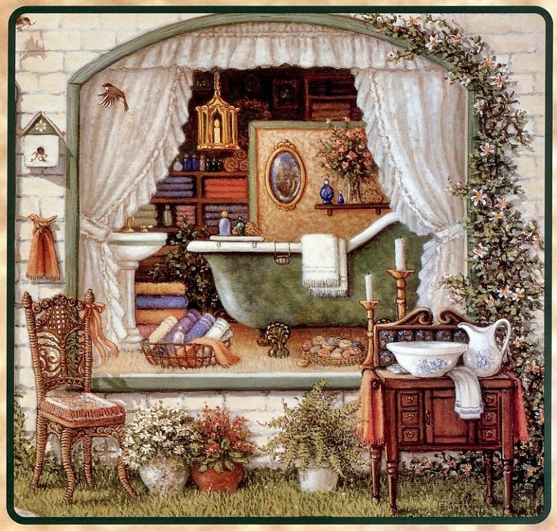Открытки марта, открытка комната