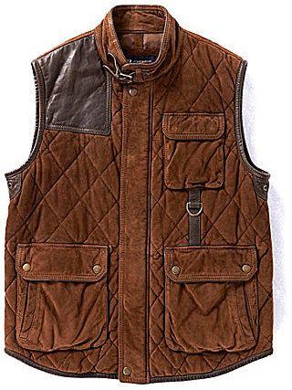 5df313a1f0 Daniel Cremieux Cremieux Rugged Goat Suede Vest on shopstyle.com ...