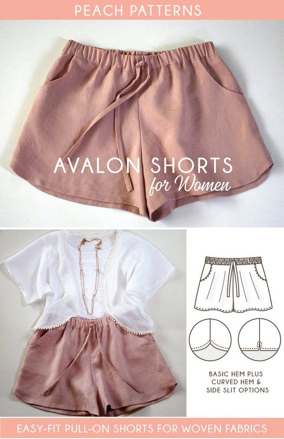 Avalon Shorts for Women Instant Download Pdf Sewing Pattern