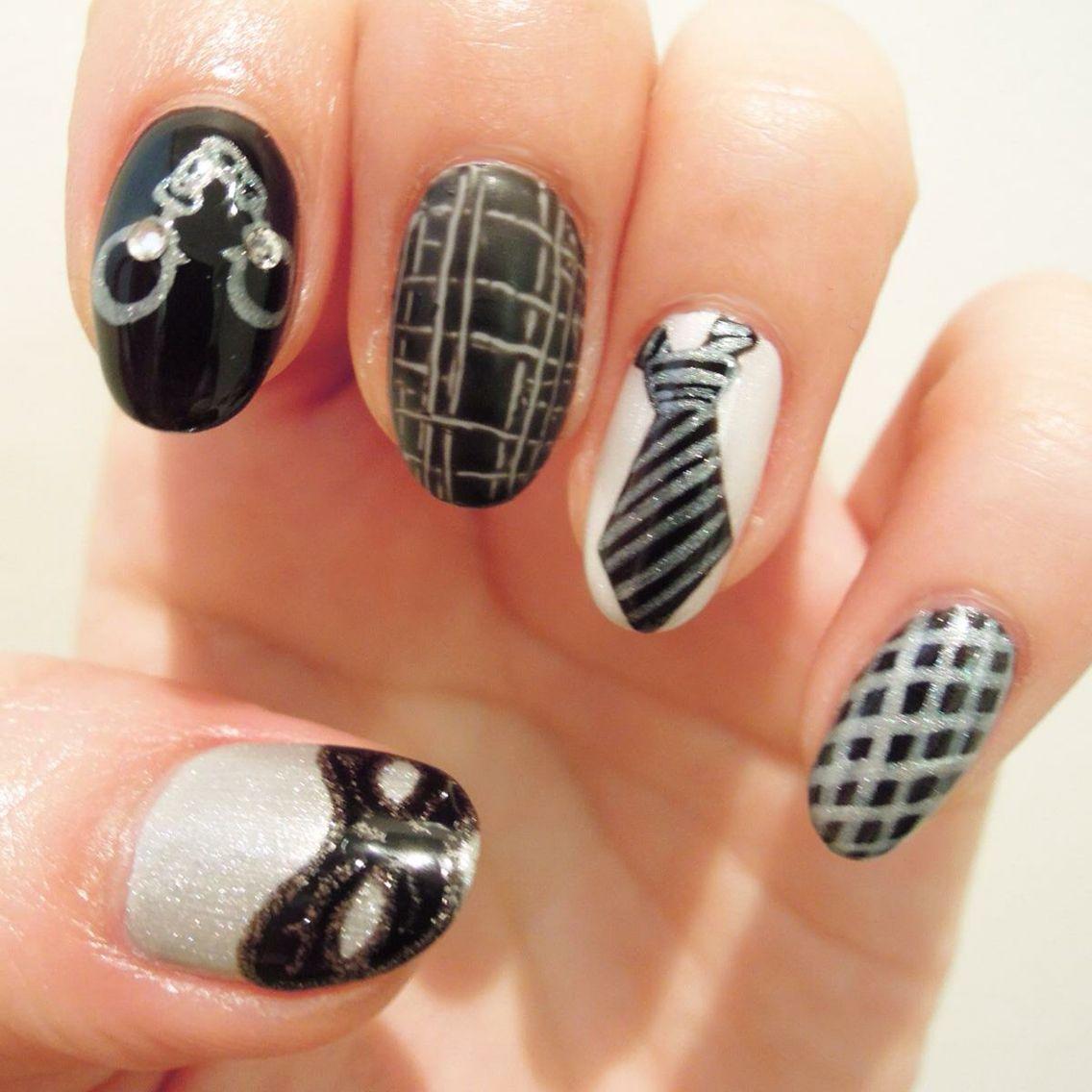 50 Shades of Grey Nails | Inspo nails - Pattern | Pinterest