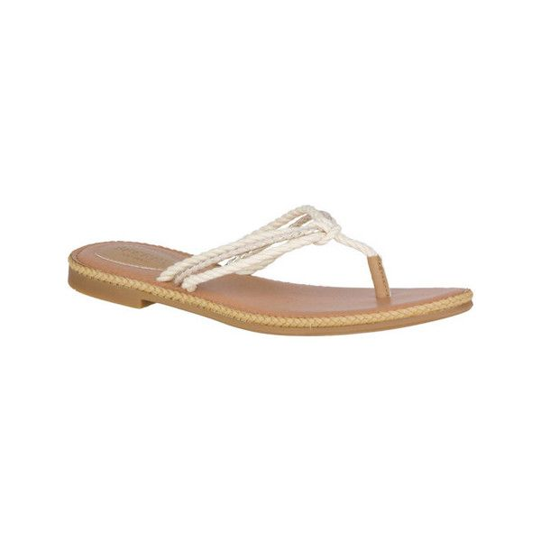 7a2f8e0d2b93 Women s Sperry Top-Sider Anchor Coy Braided Thong Sandal ( 60) ❤ liked on  Polyvore featuring shoes