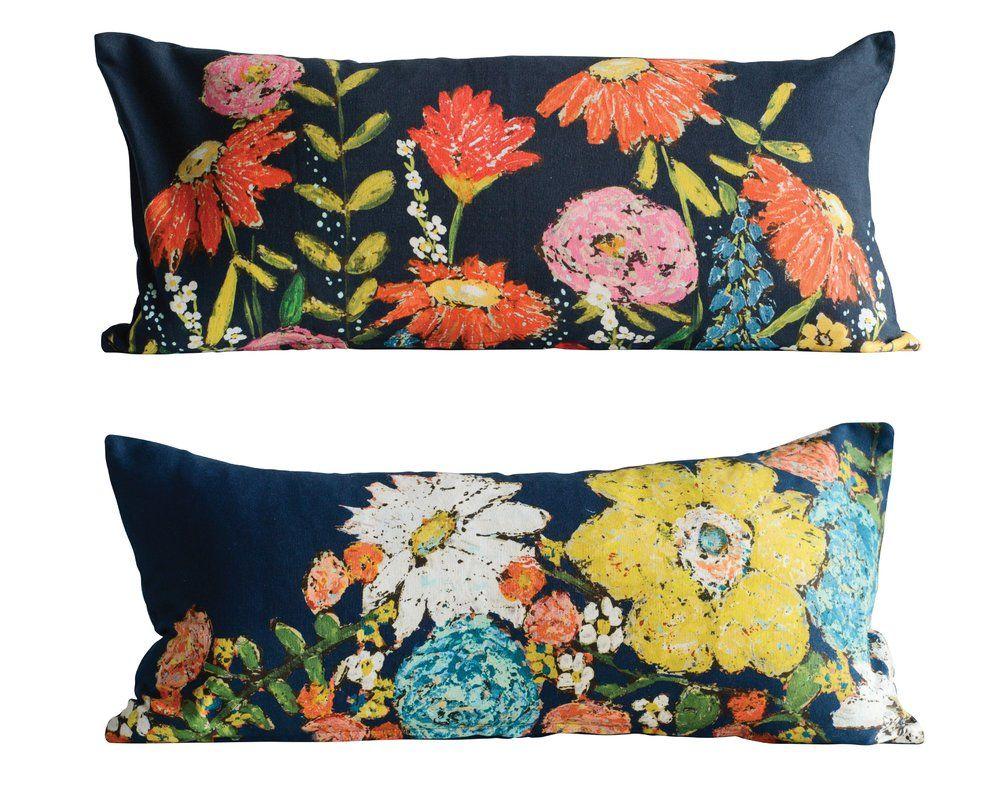 Jarus 2 Piece Floral Cotton Lumbar Pillow Floral Pillows Pillows Cotton Pillow