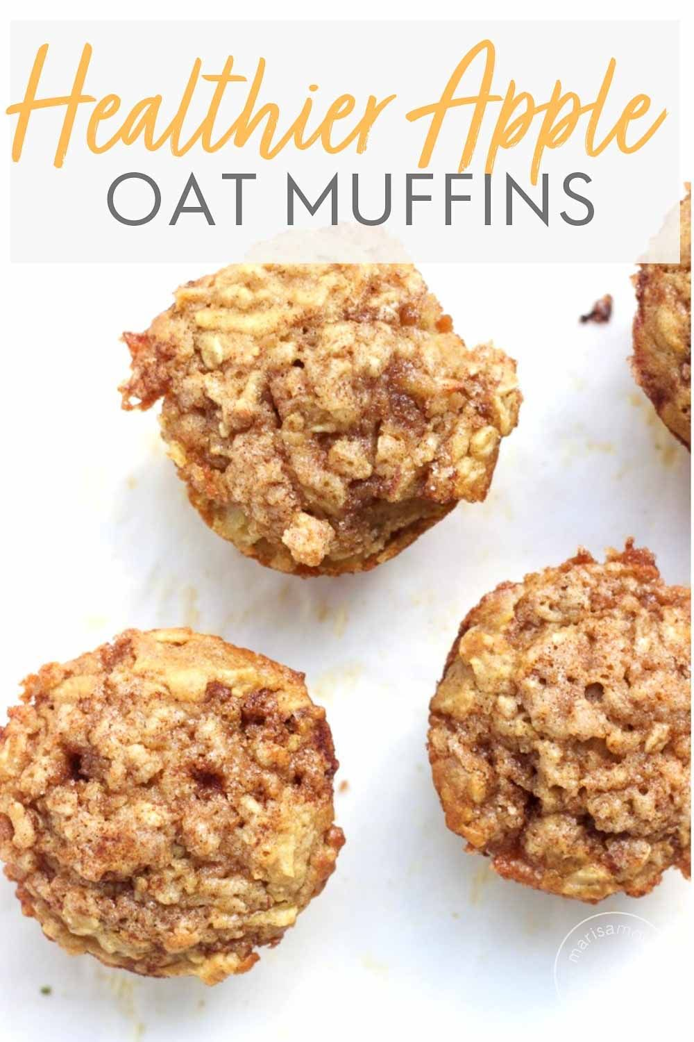 Healthy Ish Apple Cinnamon Oatmeal Muffins Recipe Dairy Free