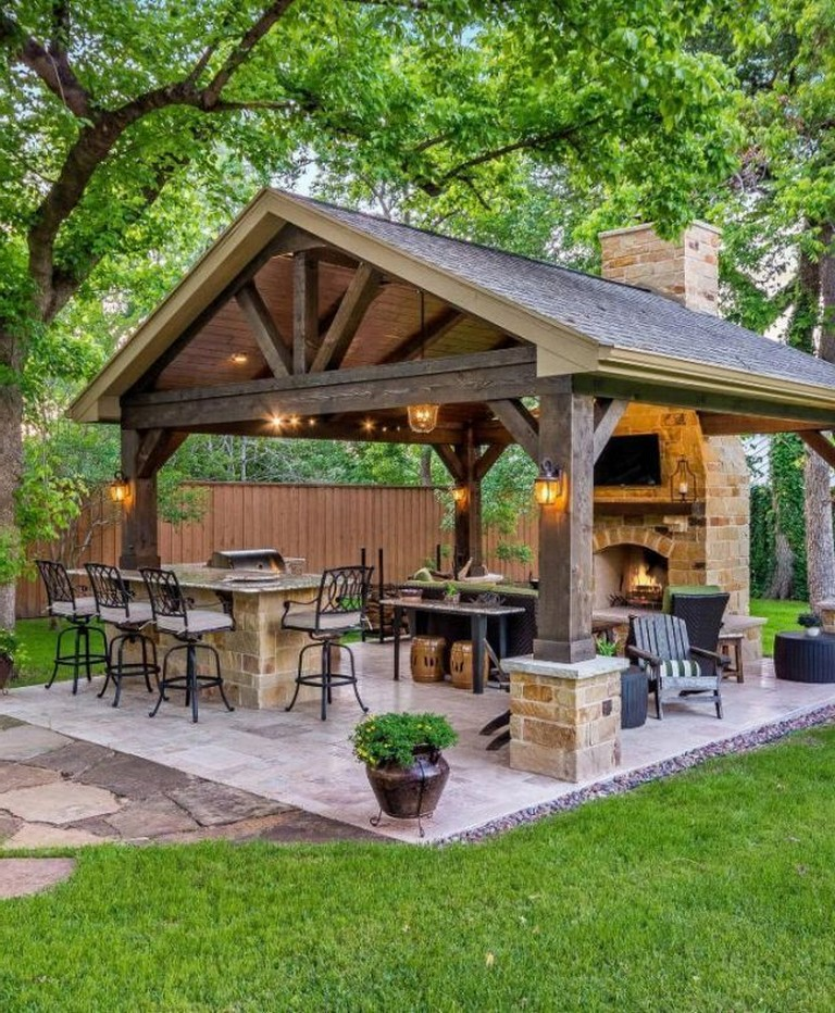 35 Cool Outdoor Deck Designs: 29+ Cool Outdoor Kitchen Design With Farmhouse Style