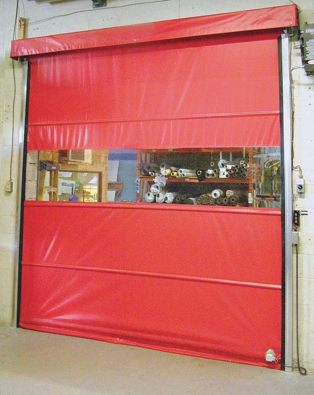 Goffs - VFMU8X10 - Vinyl Door, Motorized Operation, Face Mount Mounting, 8 ft. Width, 10 ft. Height -- Awesome products selected by Anna Churchill