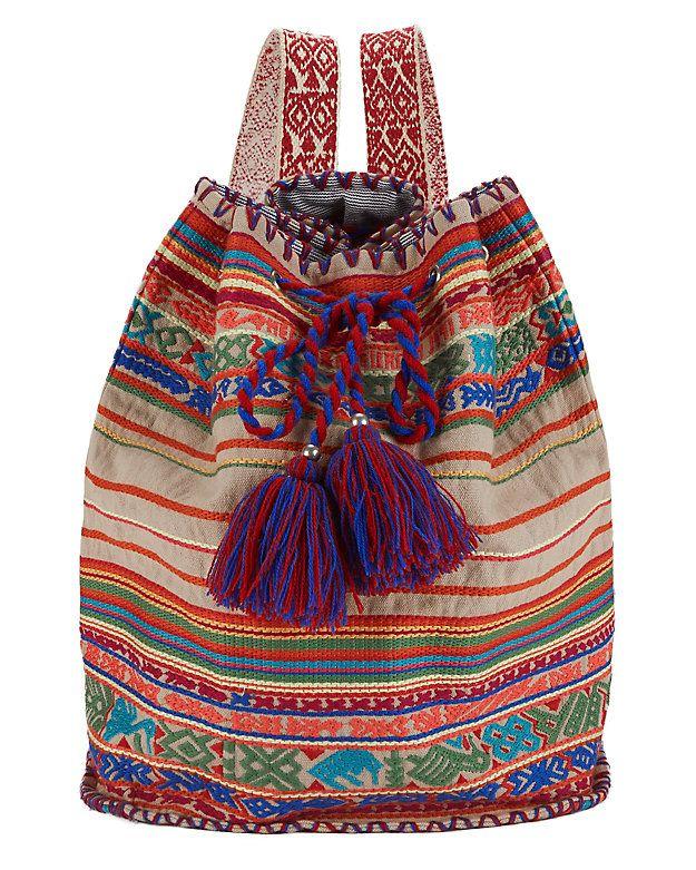 11ea7edd38 Star Mela Pelli Printed Cotton Duffle Bag: The printed cotton duffle bag is  the perfect carry all. Tassel finished drawstring closure. Two .