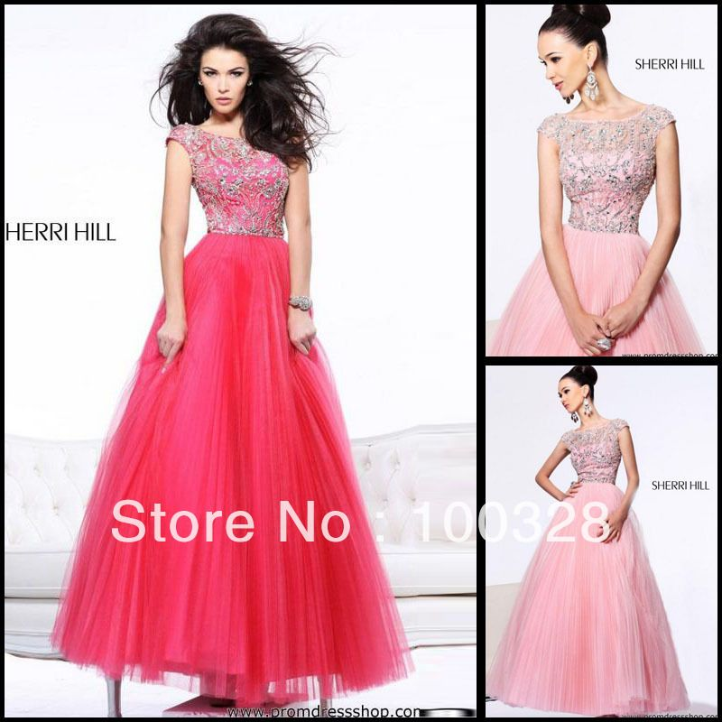 Red and Pink Short Prom Dresses