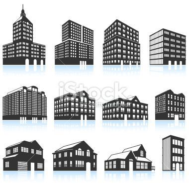 Apartment Buildings And Condominiums Black And White Royalty Free Apartment Building Building Condominium